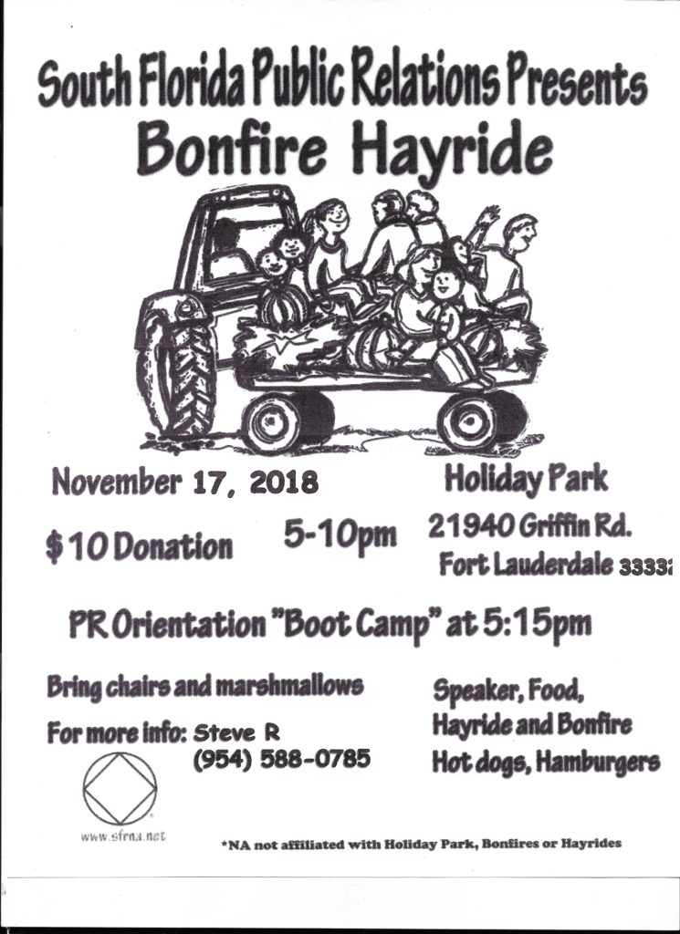 South Florida Public Relations Presents Bonfire Hayride @ Holiday Park | Fort Lauderdale | Florida | United States
